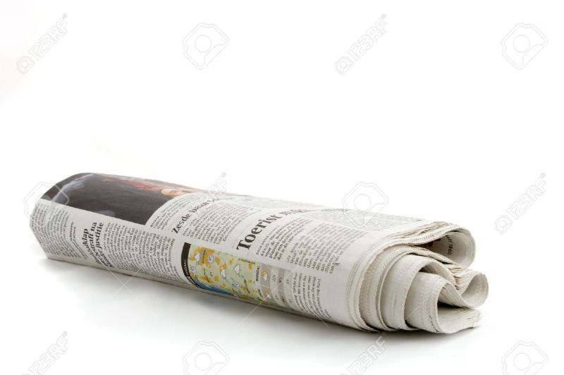 Large Of Rolled Up Newspaper