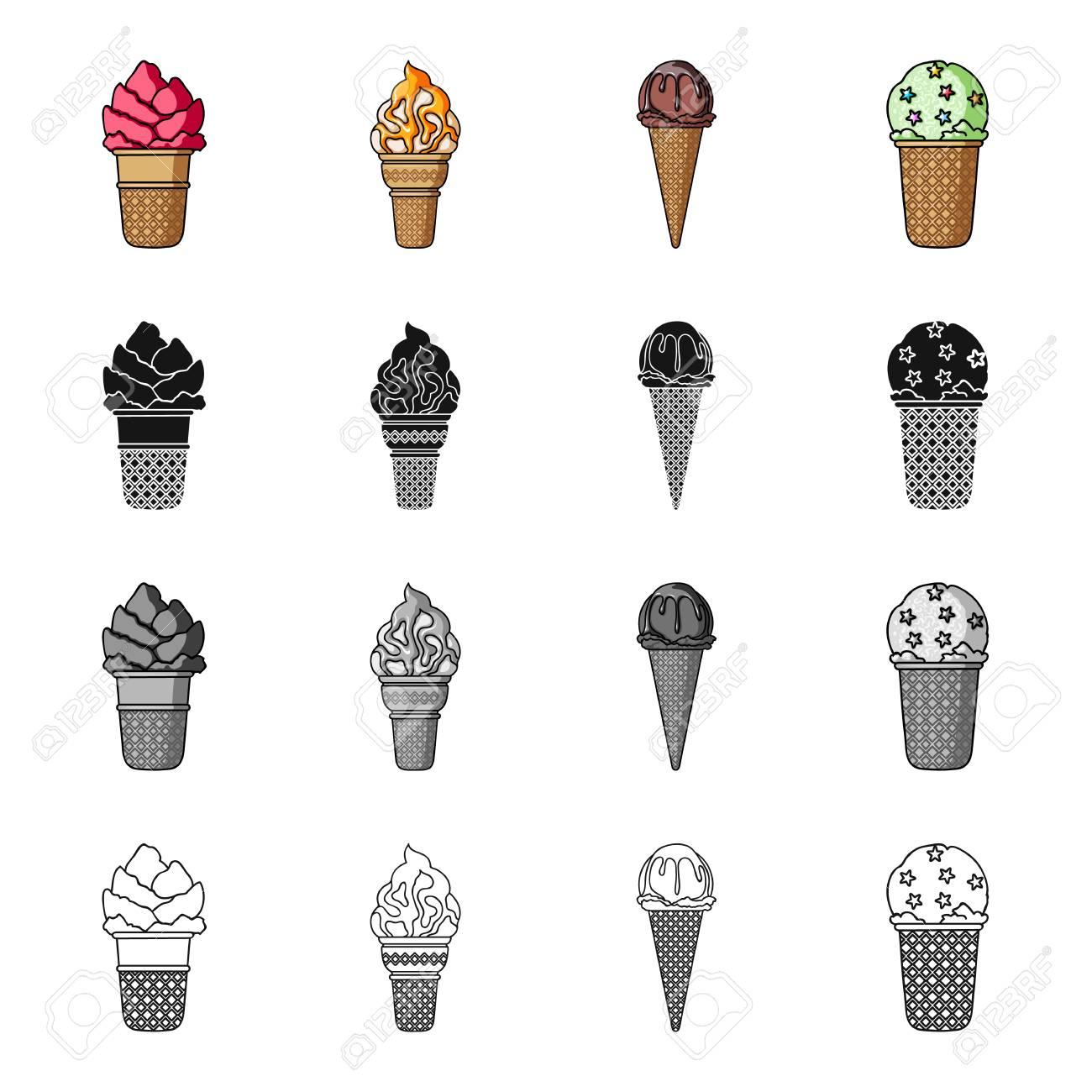 Distinctive Ice Food Ice Cream Set Collectionicons Ice Cream Styles Types Ice Food Different Types Ice Cream Cones Ice Cream Set Types Different Types nice food Types Of Ice Cream