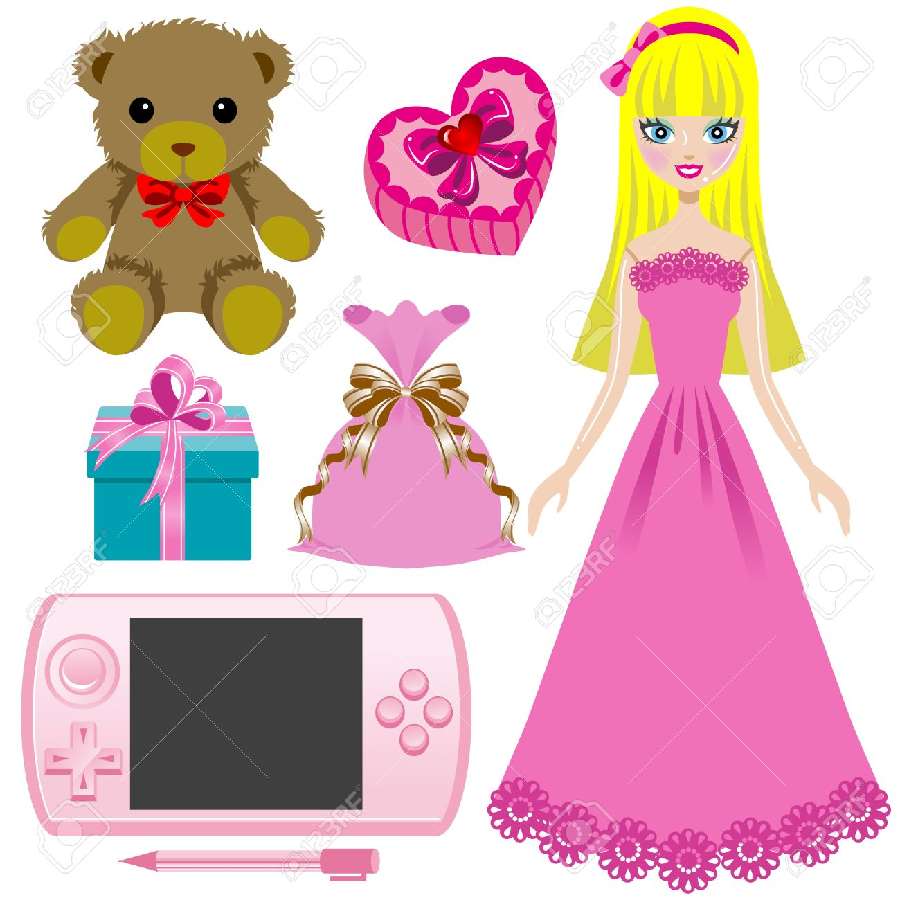 Alluring Toy Girls Toy Stock Illustration Toys Girls Age 5 Toys Girls At Walmart Girls Royalty Free baby Toys For Girls