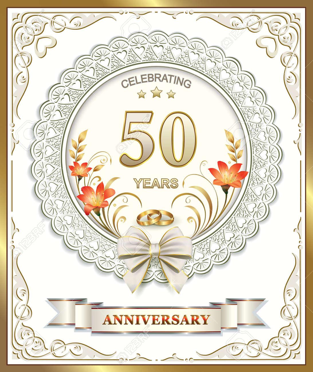 Peculiar Wedding Anniversary Stock Vector Wedding Anniversary Royalty Free Stock 50th Wedding Anniversary Songs 50th Wedding Anniversary Decoration Ideas wedding 50th Wedding Anniversary