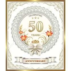 Peculiar Wedding Anniversary Stock Vector Wedding Anniversary Royalty Free Stock 50th Wedding Anniversary Songs 50th Wedding Anniversary Decoration Ideas
