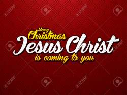 Artistic Merry Jesus Christ Is Coming To Font Designed On Luxury Redbackground Graphic Merry Jesus Christ Is Coming To Font Designed Merry Christian Facebook Covers Merry Christian Text Messages