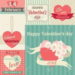 Cool Borders At Retro Style Stock Vector Happy Valentines Vector Set Happy Valentines Vector Set Borders At Retro Style Royalty Valentine S Day Border Template Valentine S Day Border Word