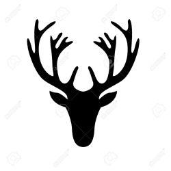 Small Of Deer Head Silhouette