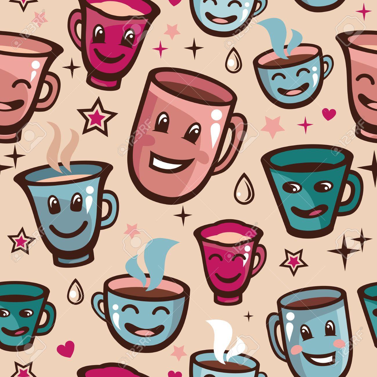 Cosmopolitan Vector Vector Seamless Pattern Tea Cups Cartoon Background Vector Seamless Pattern Tea Cups Cartoon Tea Cup Images Tea Cups Cartoon Background Royalty Cartoon Images furniture Cartoon Tea Cups
