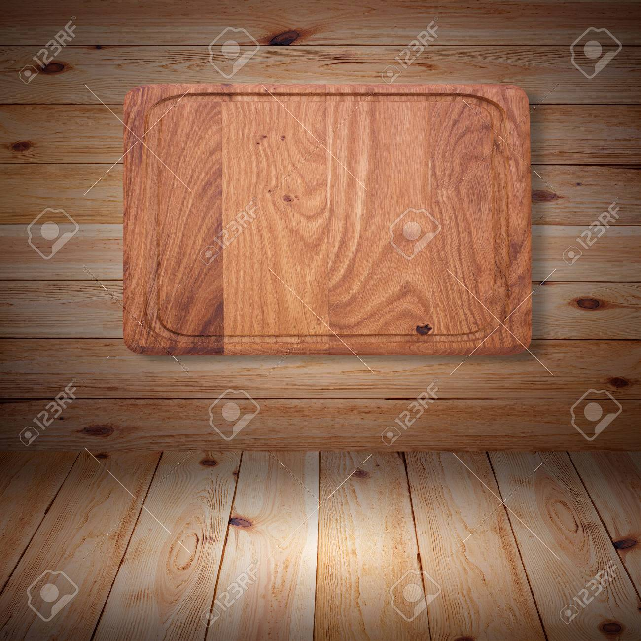31084278 Wood texture Wooden kitchen cutting board close up Empty wooden table on white background for produc Stock Photo