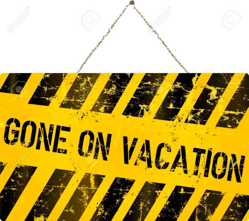 Gone On Vacation Sign Vector Ilration Royalty Free Cliparts