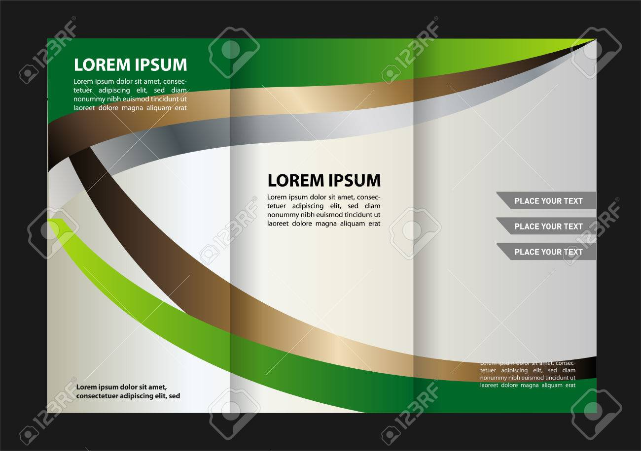 Tri fold Brochure Design Vector Template With Abstract Geometric     Tri fold brochure design vector template with abstract geometric background  Tri Fold Mock EPS10