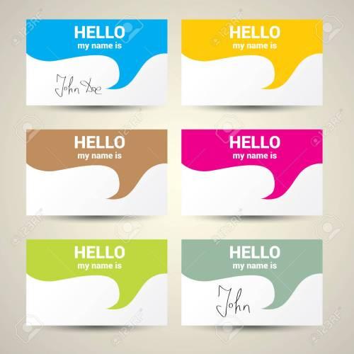 Medium Crop Of Hello My Name Is Tag