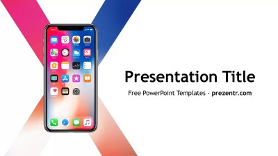 Free iPhone X PowerPoint Template - Prezentr PPT Templates