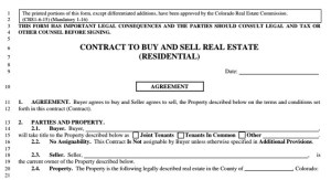 Colorado Contract to Buy & Sell Cheat Sheet