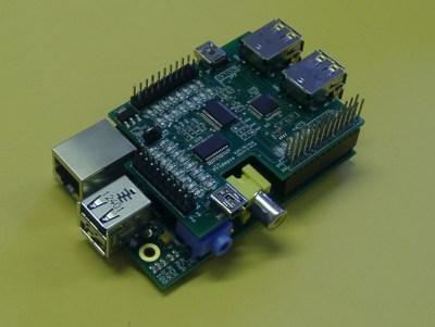 Rs-Pi 4 USB Hub & SPI 23s17 x2 32 bit GPIO multi-function Board for Raspberry Pi