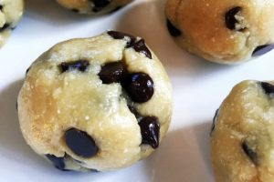 paleo nut butter chocolate chip cookie dough balls