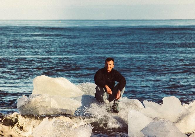 Adrian no Gelo Flutuante