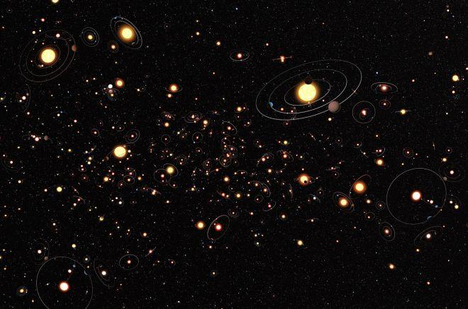 Así de comunes serían los sistemas planetarios en nuestra galaxia, la Vía Láctea (y probablemente en muchas otras también). Imagen