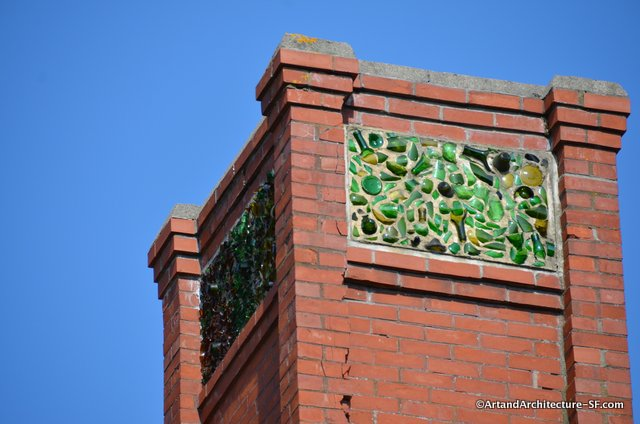 The top of the chimney at the Tilton House