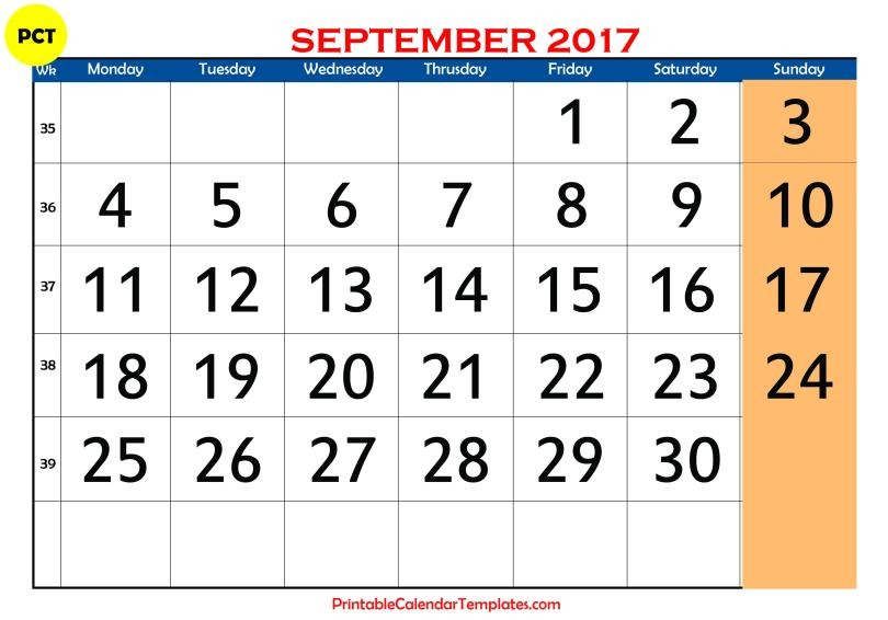 september 2017 calendar, september 2017 printable calendar, september 2017 blank calendar, september 2017 calendar templates