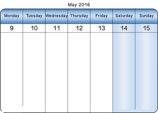 May 2016 Weekly Printable Calendar, May 2016 Weekly Blank Templates, May 2016 Weekly Calendar Printable, May 2016 Weekly Calendar Templates, May 2016 Weekly Editable Templates