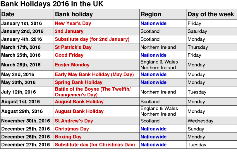 May 2016 Calendar with Holidays USA, May 2016 Calendar with Holidays UK, May 2016 Calendar with Holidays Canada, May 2016 printable templates with Holidays [USA, UK, Canada]
