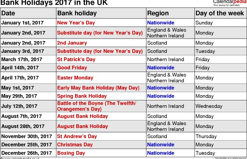 2017 UK Calendar, UK Holidays 2017, 2017 Calendar UK , Calendar 2017 uk,