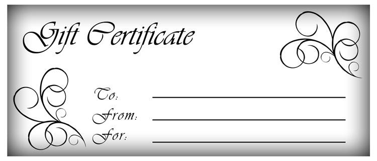 Blank Gift Certificate Template Word Printable Calendar Templates