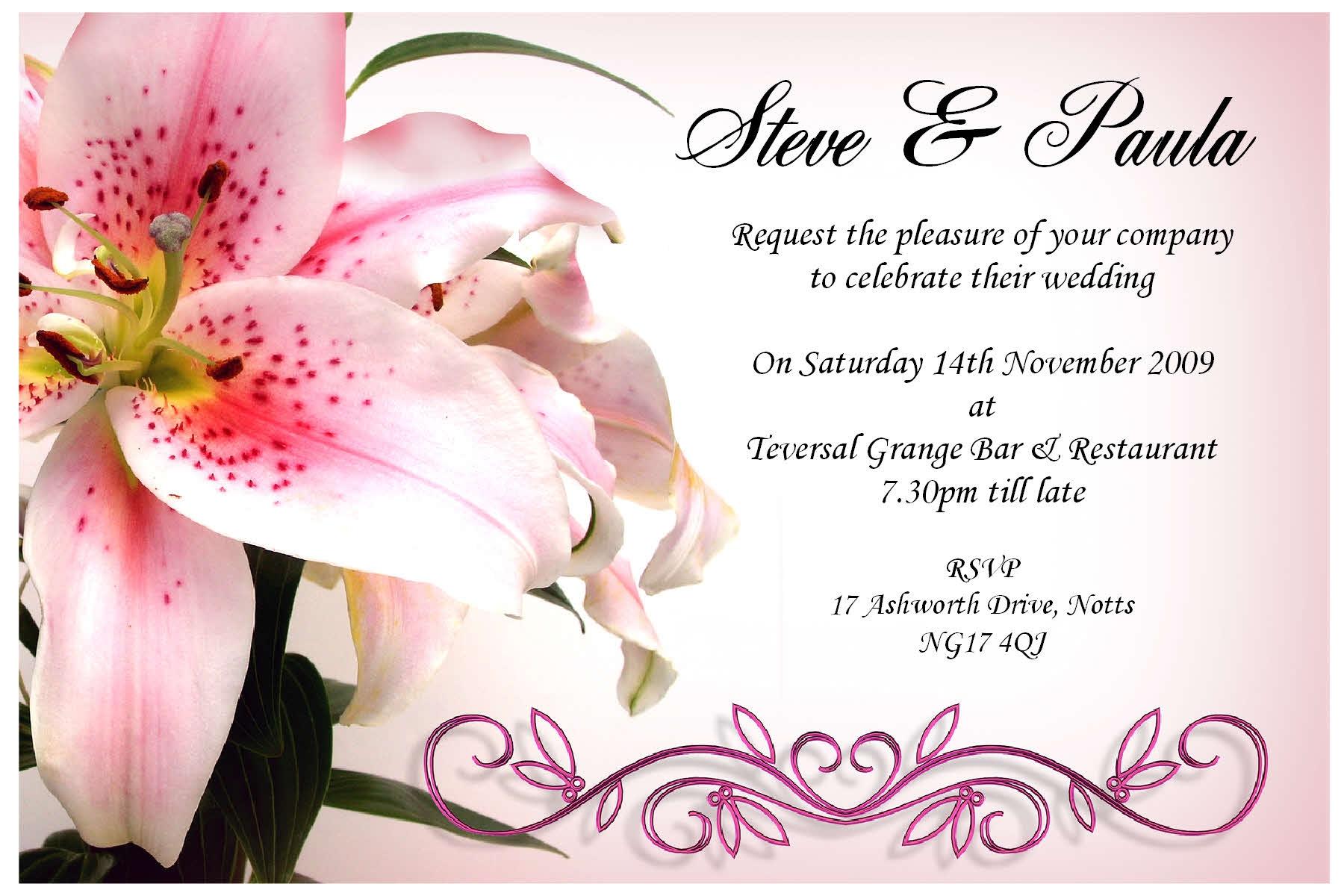 15+ Printable wedding Invitation templates, cards, Samples ...
