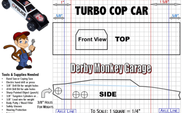 25 pinewood derby templates for cars design printable calendar free pinewood derby turbo cop car template maxwellsz