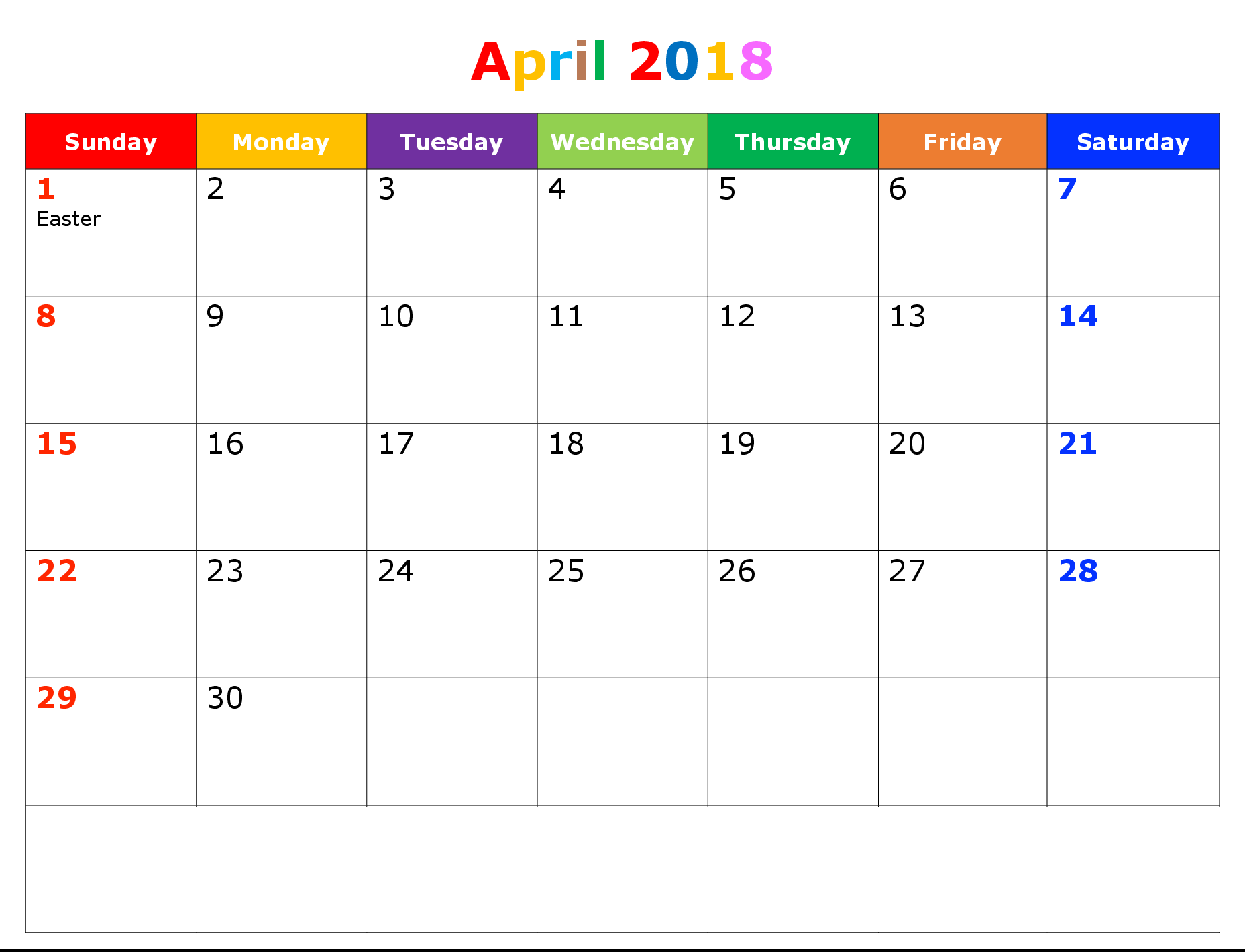 April 2018 printable calendar template printable calendar templates april 2018 calendar printable maxwellsz