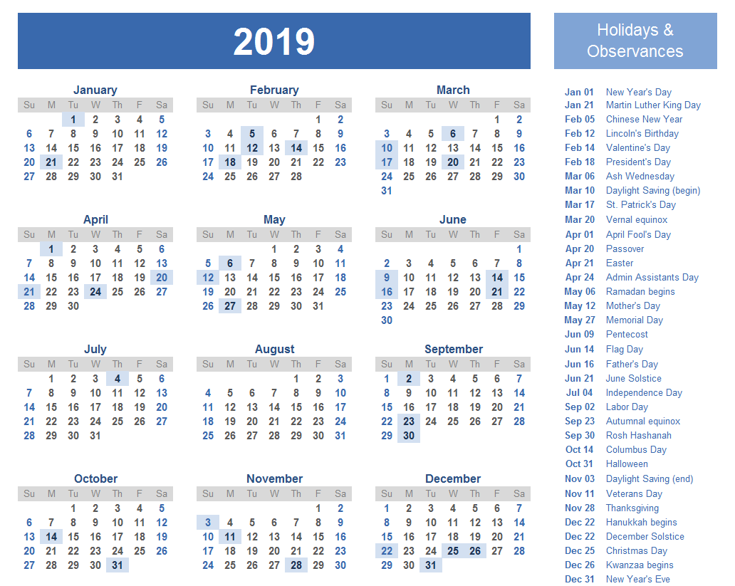 Easter holiday dates 2019 in Brisbane