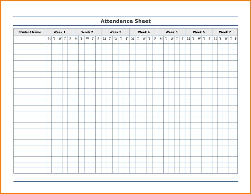 2019 Employee Attendance Calendar Printable