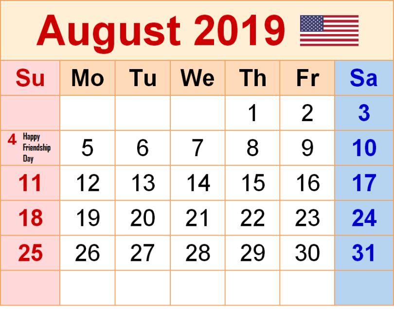 2019 Friendship Day in USA