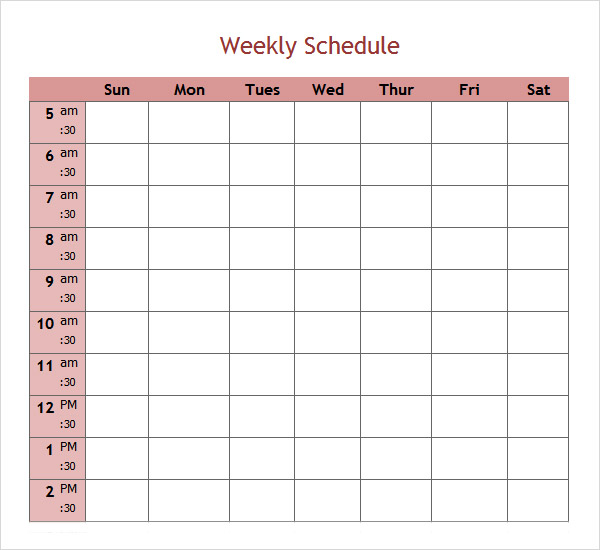 30 Day Calendar Template PDF