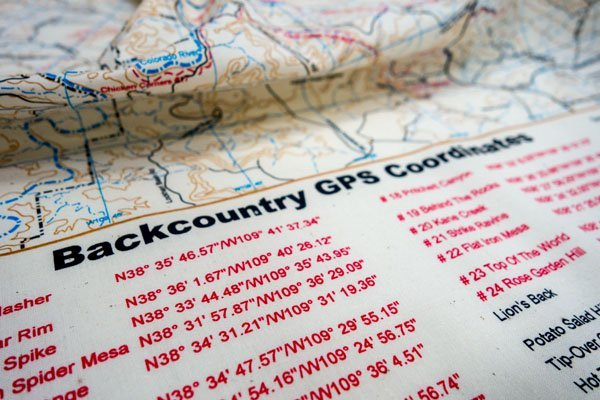 Backcountry topographical map