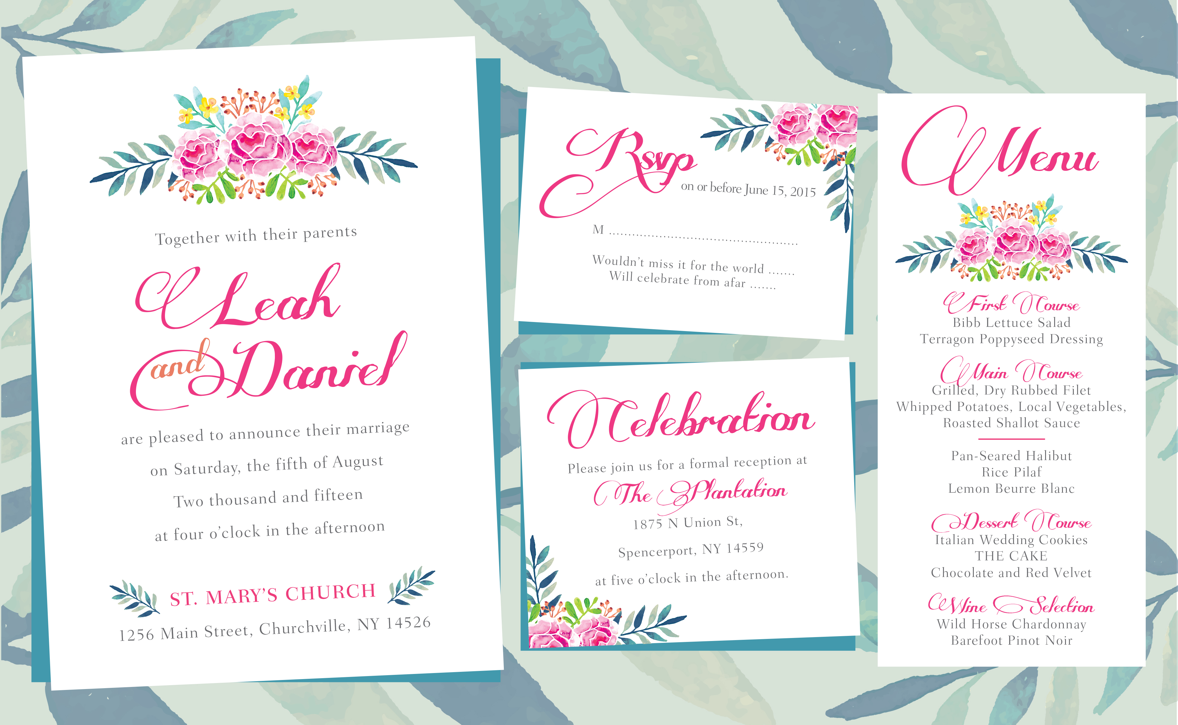 floral wedding invitations floral wedding invitations Flower invitation Layout