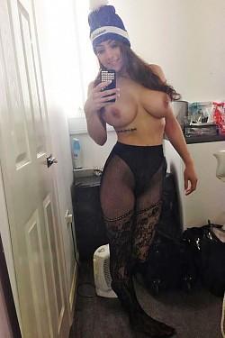 pantyhose leg spread selfie