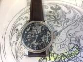 fertige-Vollskelett-floral-Uhr