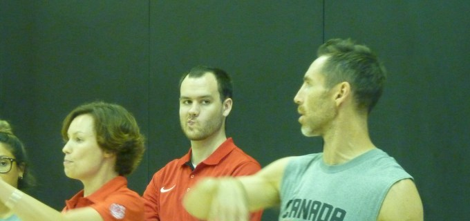 Nash with Team Canada Officials