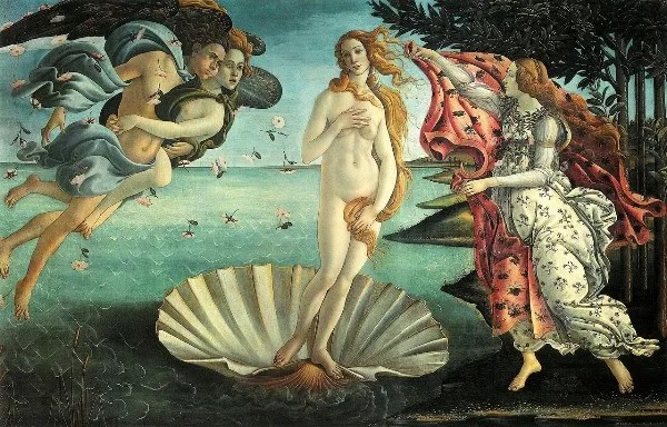 Botticelli's famous painting, the Birth of Venus is the prime piece of the Uffzi museum in Florence