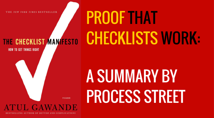 Proof that Checklists Work for you