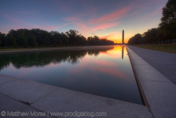 National Mall Sunrise Washington Monument