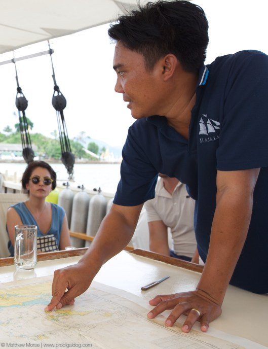 Pre-departure briefing on our route and destinations within the Mergui Archipelago!