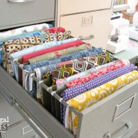 Repurposed Sewing Fabric Storage