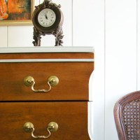 Mid Century Modern Chest ~ White and Wood