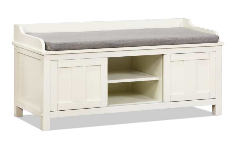 Large Of White Storage Bench