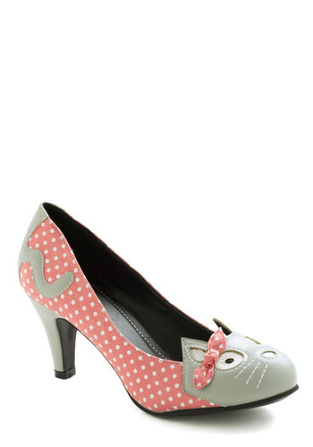 Meow's the Time Heel in Pink