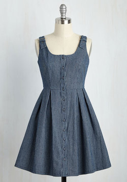 Dresses - Good Potluck! Dress in Dark Wash