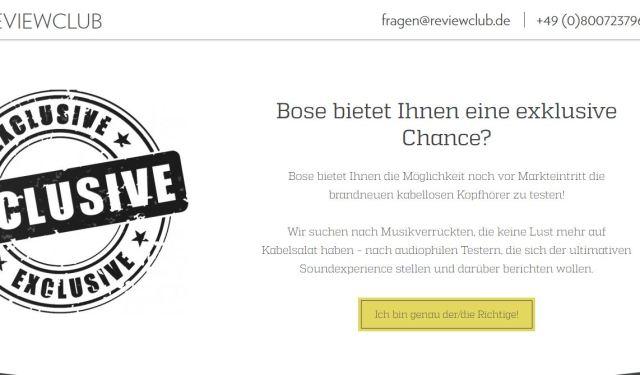 Reviewclub Bose AKtion