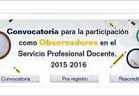 Lanza INEE convocatoria para observadores del concurso de plazas docentes 2015-2016