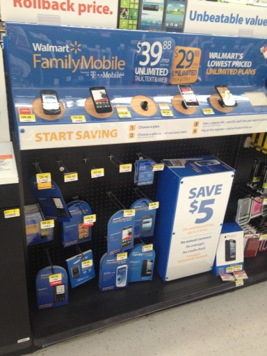 Walmart #FamilyMobile #MaxYourTax Display in Store #Shop