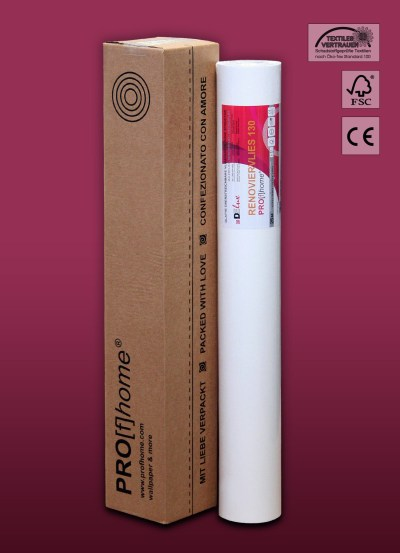Profhome paintable non-woven wallpaper lining paper wall liner 130 g 18,75 sqm | eBay